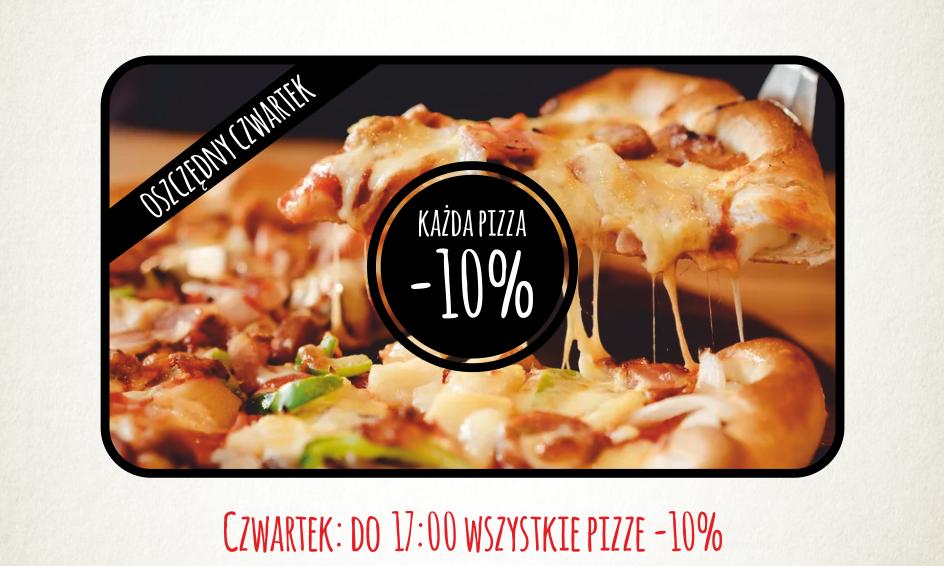 czwartek -10% na pizze